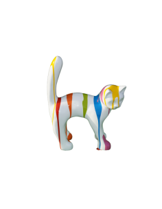 SCULPTURE CATS RESIN 46 CM DESIGN