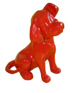 SCULPTURE DOG RESIN  DALMATIAN 37 CM COLOR