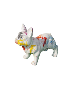 SCULPTURE DOG RESIN  FRENCH DOG 37 CM design