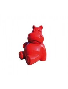 SCULPTURE  RESIN   Hippopotamus 25 CM