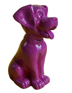 SCULPTURE DOG RESIN  DALMATIAN 35 CM COLOR