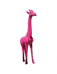 SCULPTURE GIRAFFE STANDING 210CM COLOR
