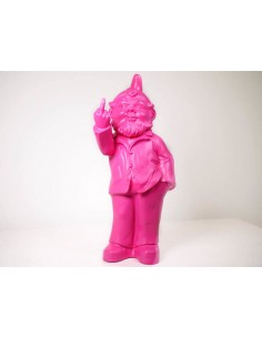SCULPTURE  Garden Dwarf making a middle finger by Ottmar Horl 37 cm
