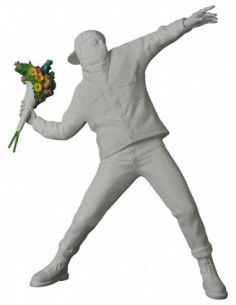 Sculpture Flower Bomber Gesso White by BANKSY