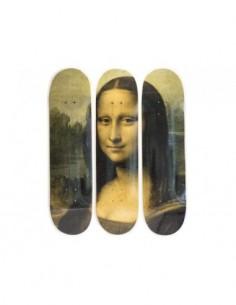 Leonardo da Vinci Skateboard Triptych – Mona Lisa (1503)