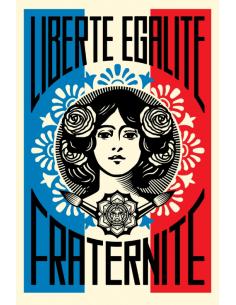 Print Liberté Egalité Fraternité by SHEPARD FAIREY alias OBEY
