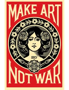 Print MAKE ART NOT WAR by SHEPARD FAIREY alias OBEY