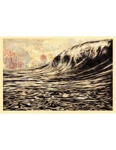 Print DARK WAVE  by SHEPARD FAIREY alias OBEY