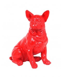 SCULPTURE FRENCH BOULEDOGUE  SITTING 45CM